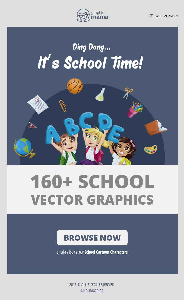 school time email marketing campaign 2