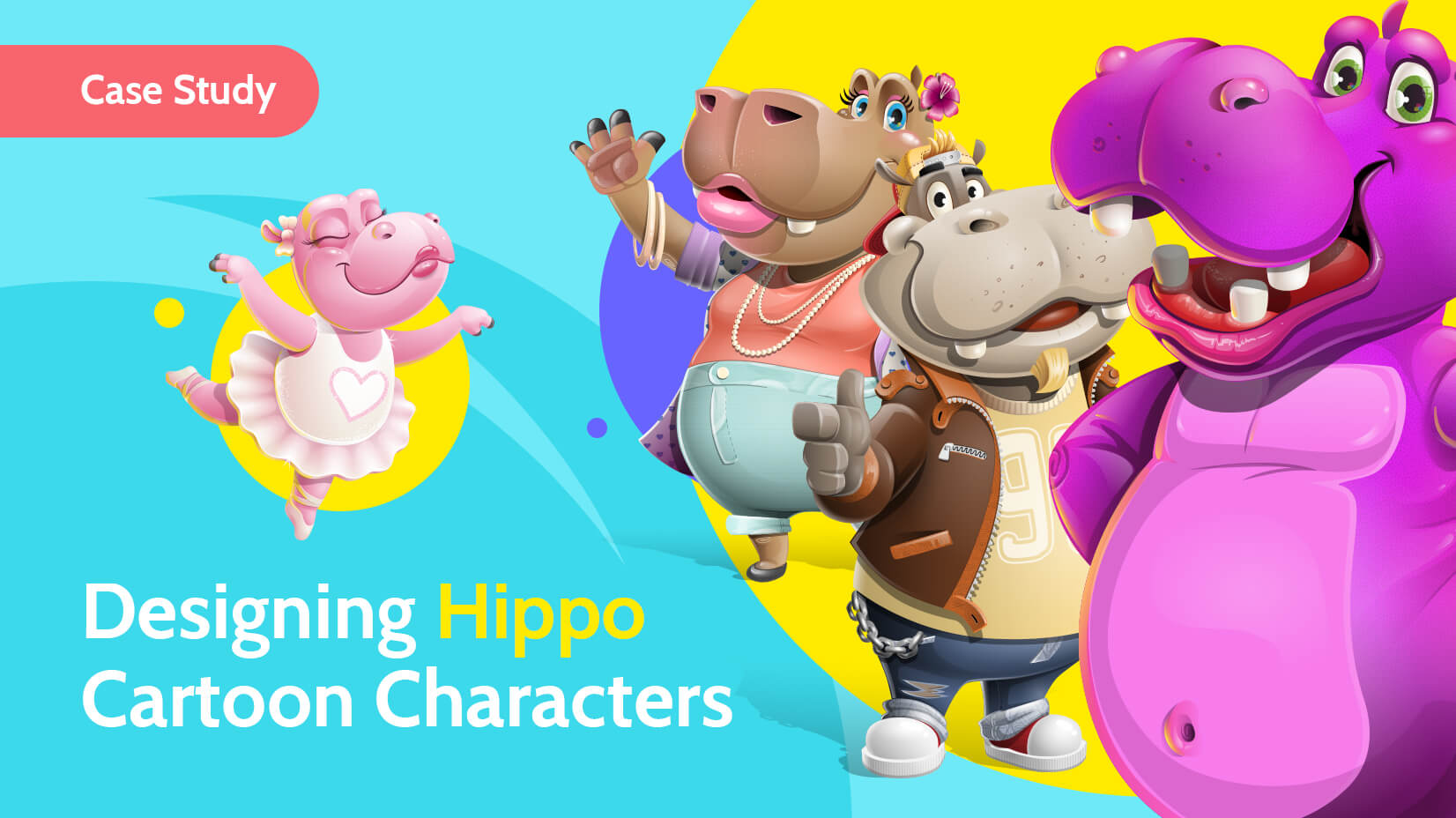 Designing Hippo Cartoon Characters: a Case Study by GraphicMama