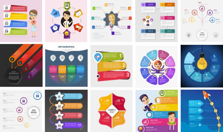 Create engaging infographic with infographic templates