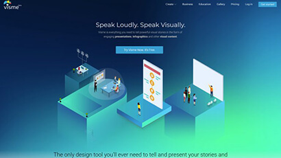 Online infographic builders: Visme