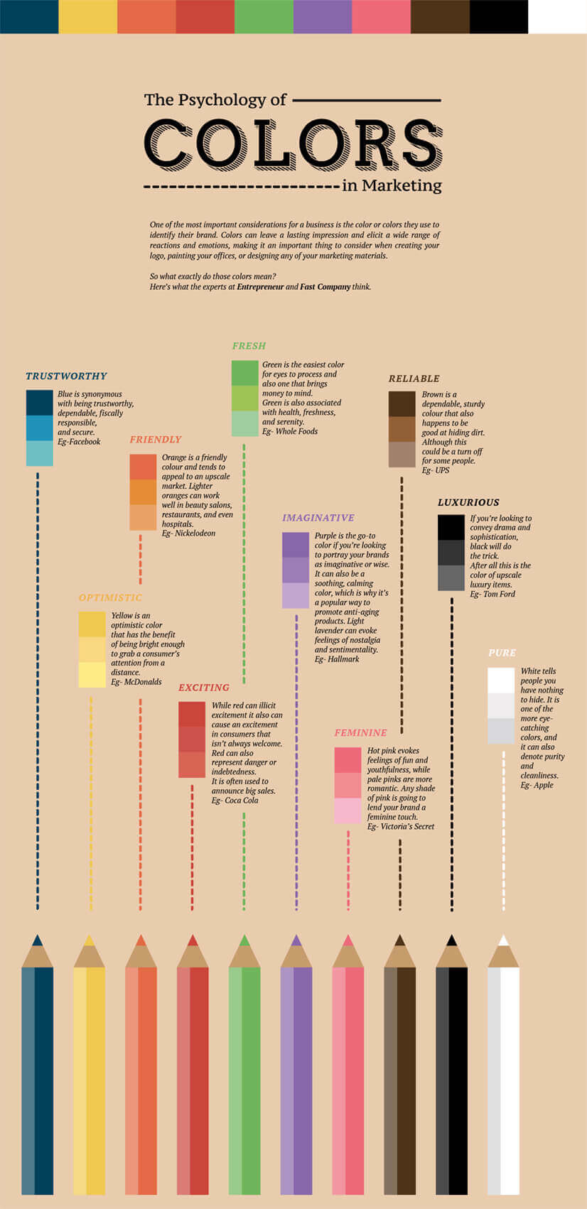 Psychology of colors for good infographic