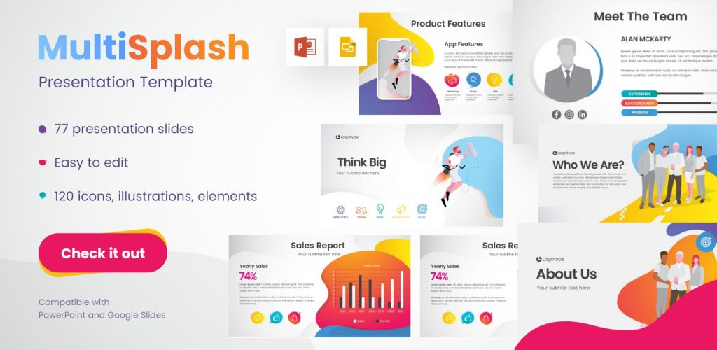 MultiSplash - Presentation templates for PowerPoint and Google Slides