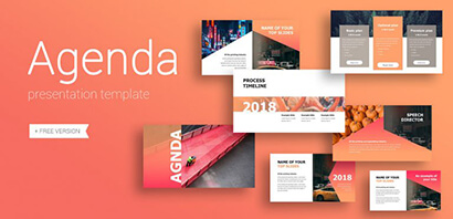 Agenda Business Free PowerPoint Template