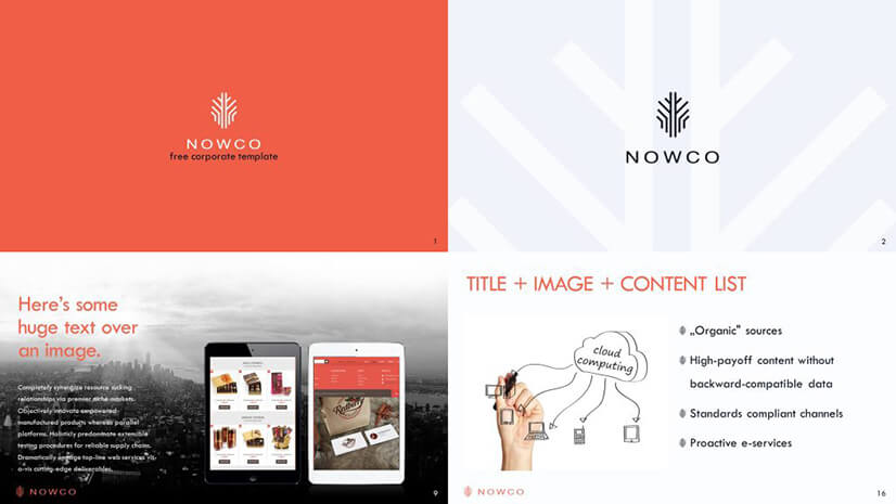 Nowco Business Free PowerPoint Template