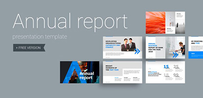 Annual Report Business Free PowerPoint Template