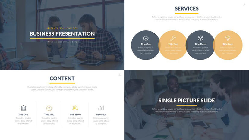 Burbank Business Free PowerPoint Template