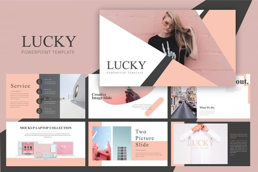 Lucky Free PowerPoint Template PPT