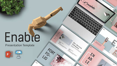 Enable Presentation Free PowerPoint Template