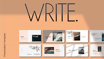 Write Free PowerPoint Template