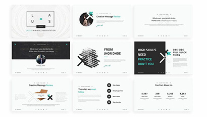 Zeen Presentations Free PowerPoint Template