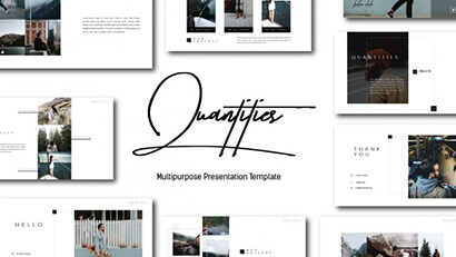 Quantities PPT Free PowerPoint Template