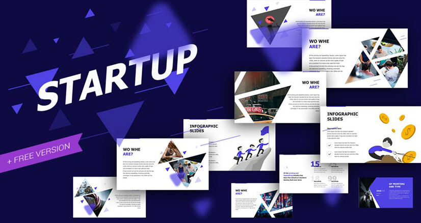 Startup Business Free PowerPoint Template