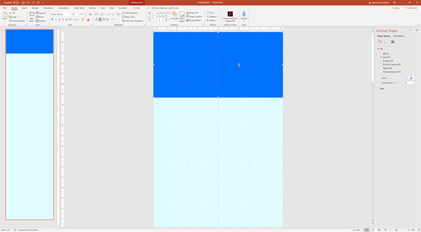 Infographic in PowerPoint: Creating header with shapes