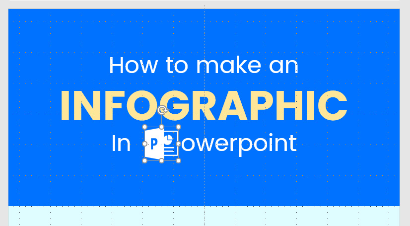 Infographic in PowerPoint: Inserting image or logo