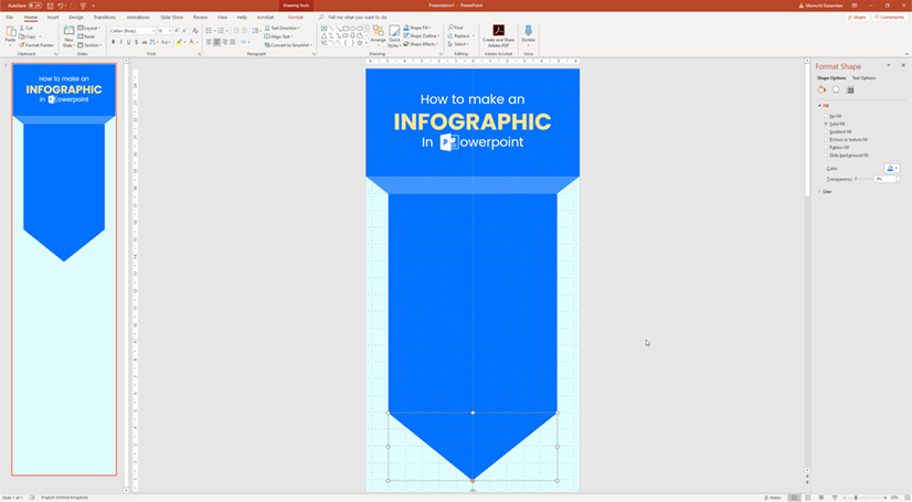 Infographic in PowerPoint: Creating the body in 3D style