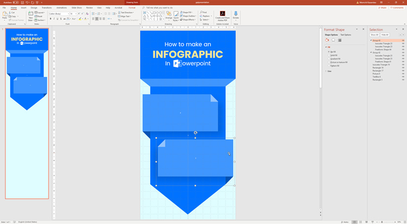 Infographic in PowerPoint: Creating cool information sections