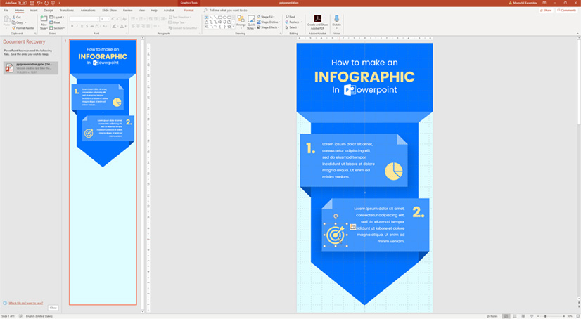 Infographic in PowerPoint: Change color of icons