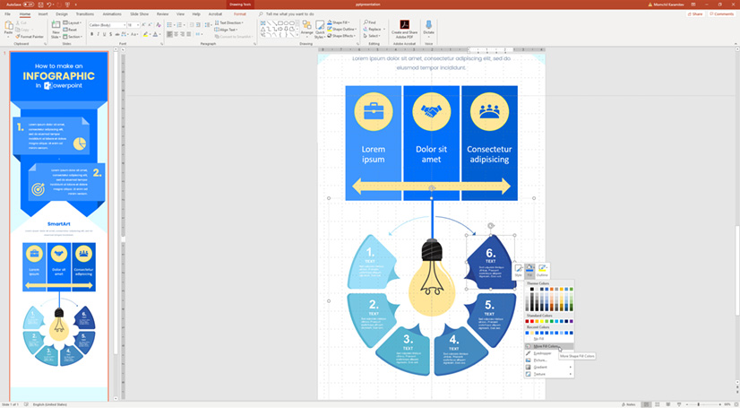 Infographic in PowerPoint: Fully editable vector in powerpoint