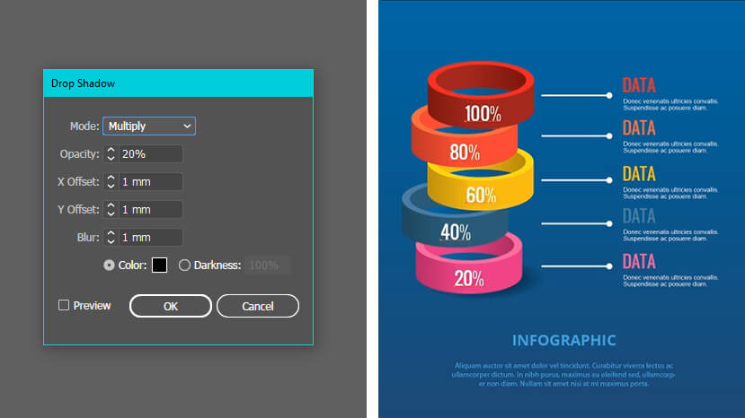 How to make infographic step 20: polishing the details
