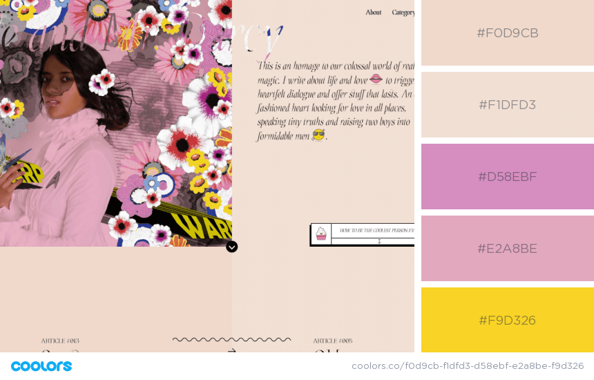 Inspiring Website Color Schemes flower colors website