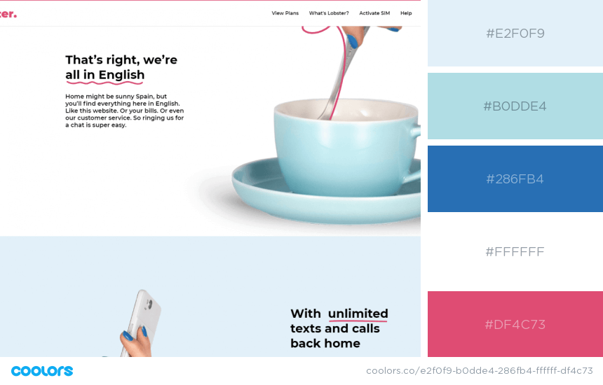 Inspiring Website Color Schemes Modern blue and red website