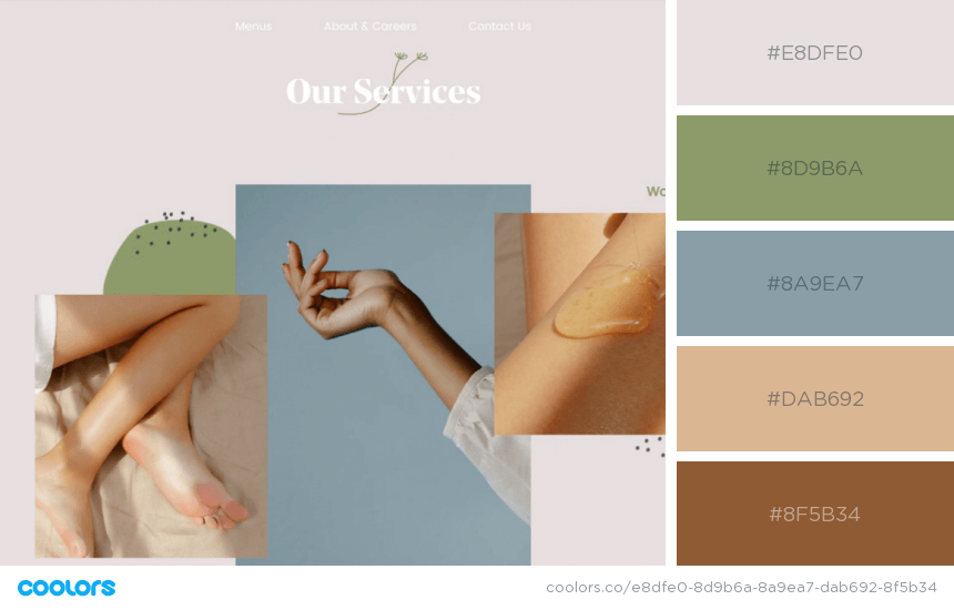 Inspiring Website Color Schemes business website