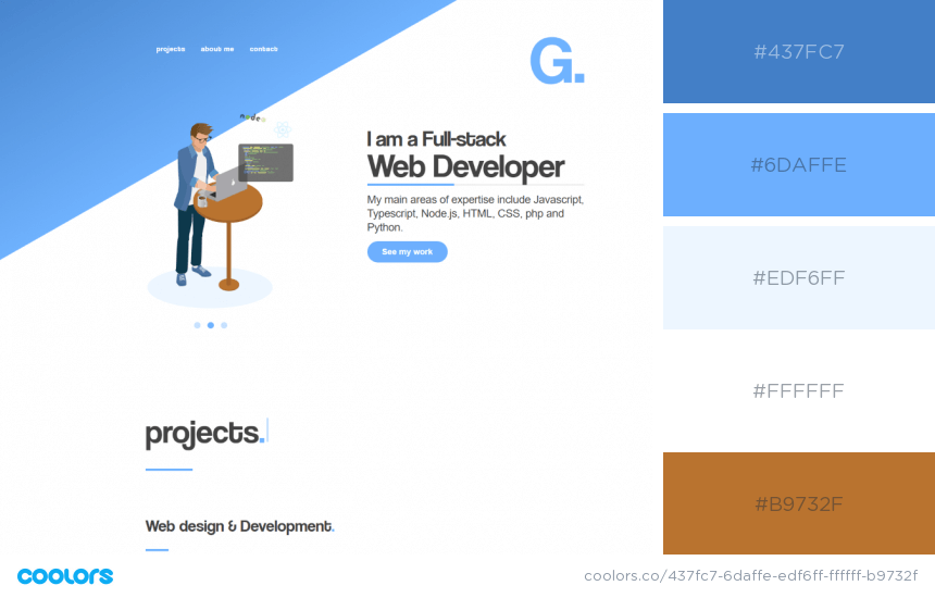 Inspiring Website Color Schemes blue and brown website