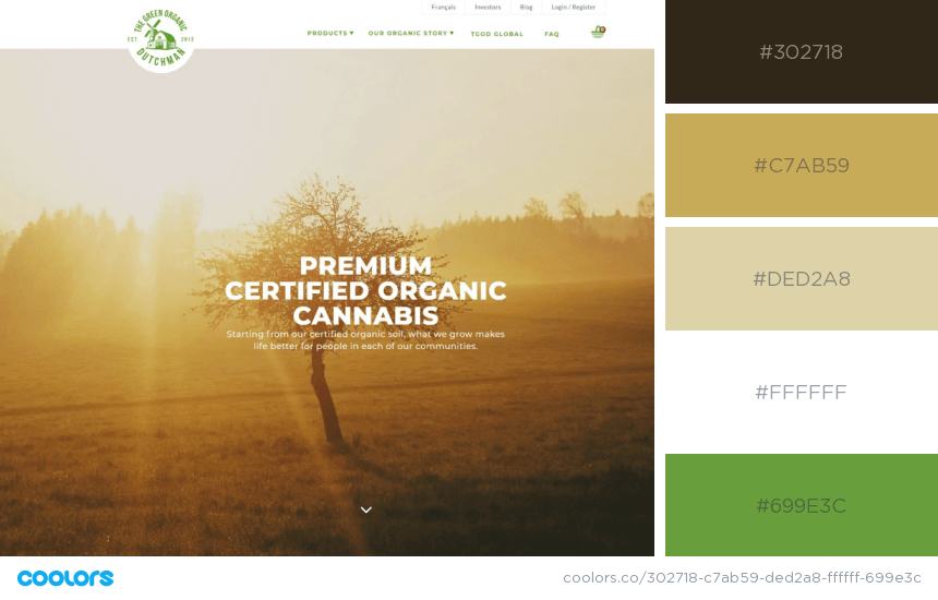 Inspiring Website Color Schemes nature colors website