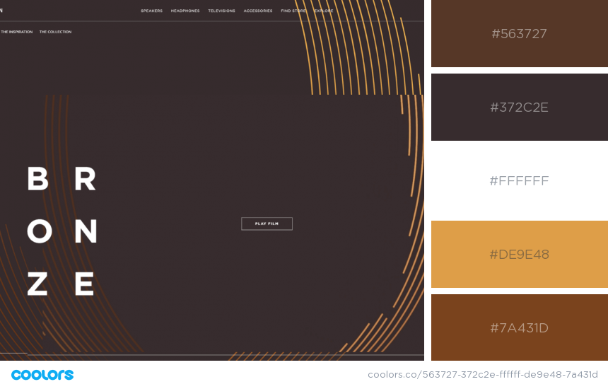 Inspiring Website Color Schemes brown colors website