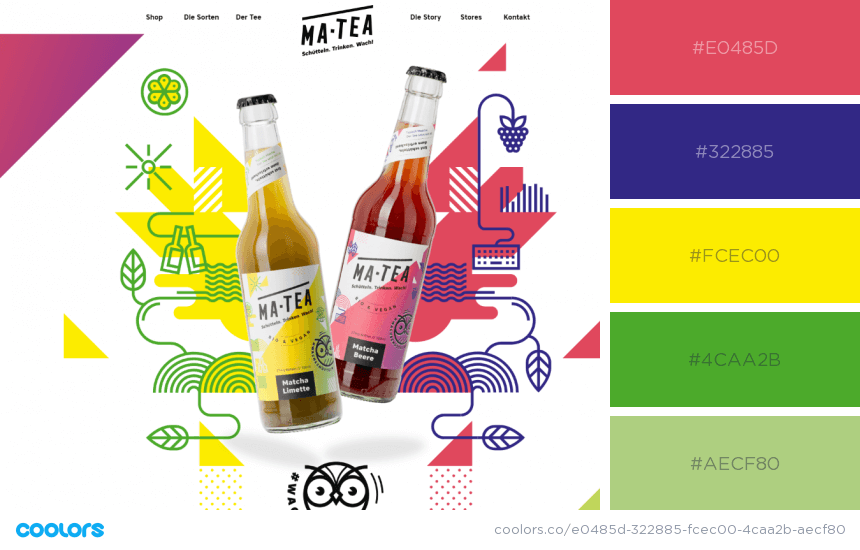 Inspiring Website Color Schemes modern bright colors website