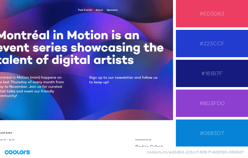 Inspiring Website Color Schemes-vivid red and blue website