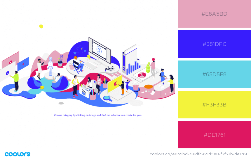 Inspiring Website Color Schemes blue yellow red and white colors website