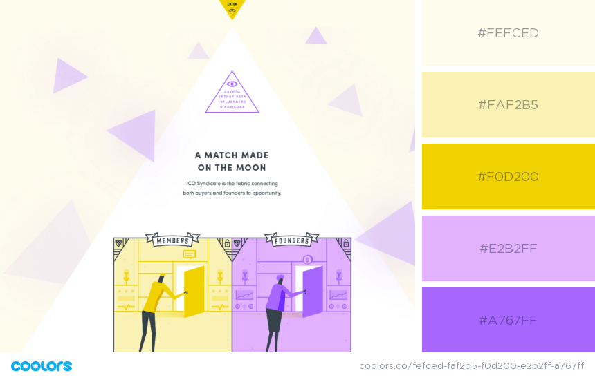 Inspiring Website Color Schemes Yellow and purple website