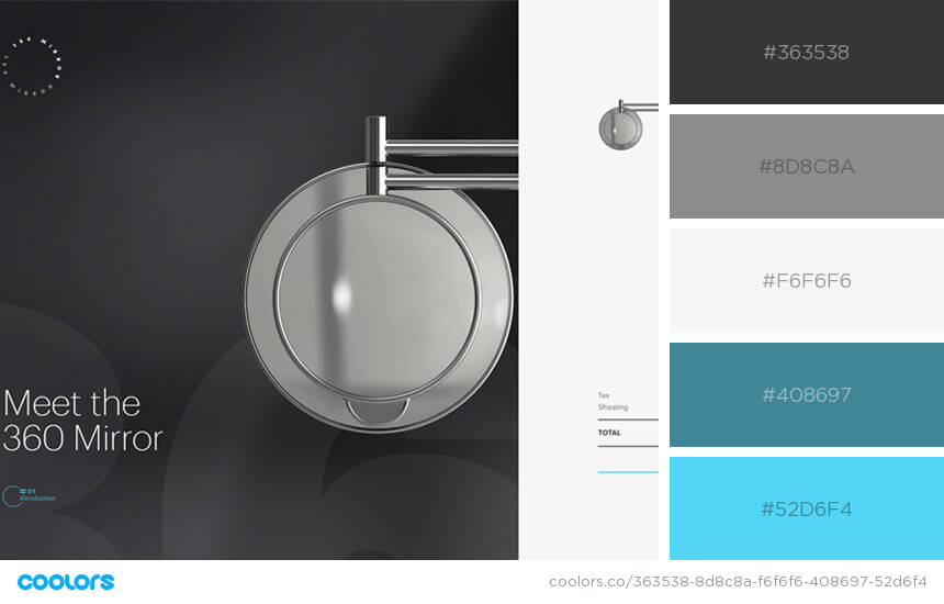 Inspiring Website Color Schemes grey with blue website