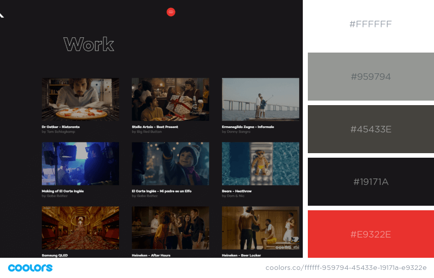 Inspiring Website Color Schemes dark colors website