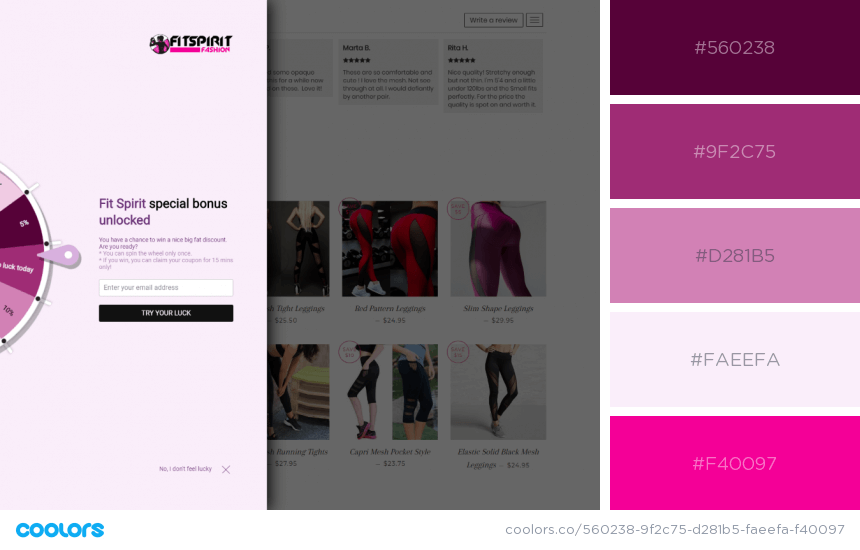 Inspiring Website Color Schemes pink website