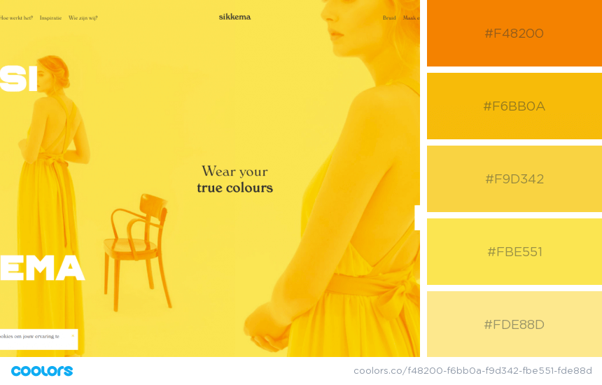 Inspiring Website Color Schemes Yellow website