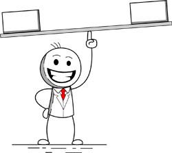 cartoon presentation: balance
