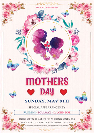 mother's day event flyer example