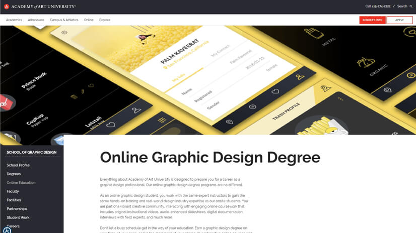 Online Graphic Design Degree by Academy of Art University