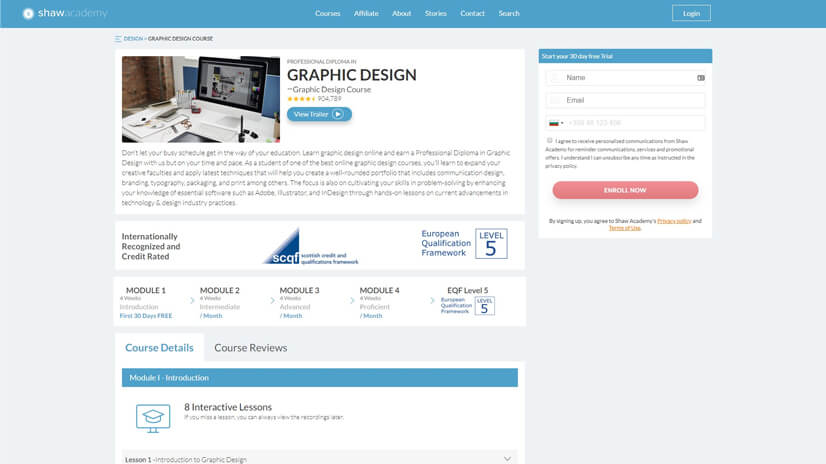 Professional Diploma in Graphic Design by Shaw Academy