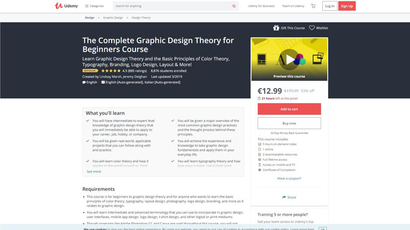 Platforms for online graphic design courses Graphic Design Courses on Udemy