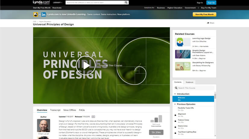 Design Skills Training and Tutorials on LinkedIn Learning (Lynda)