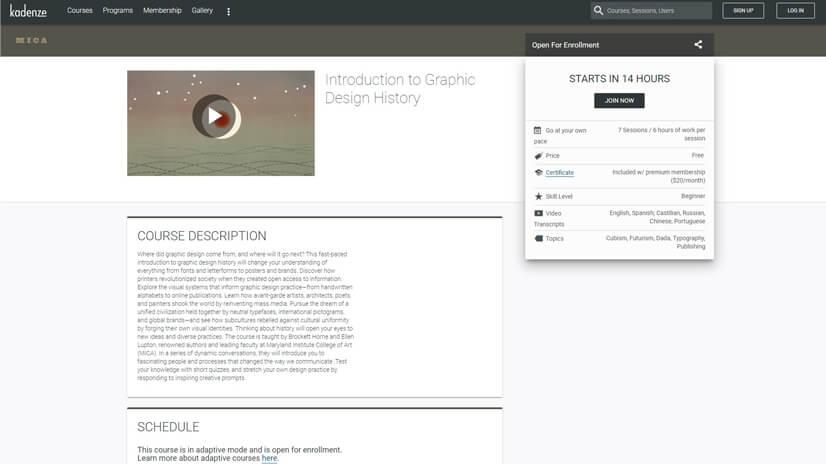 Graphic Design Courses on Kadenze