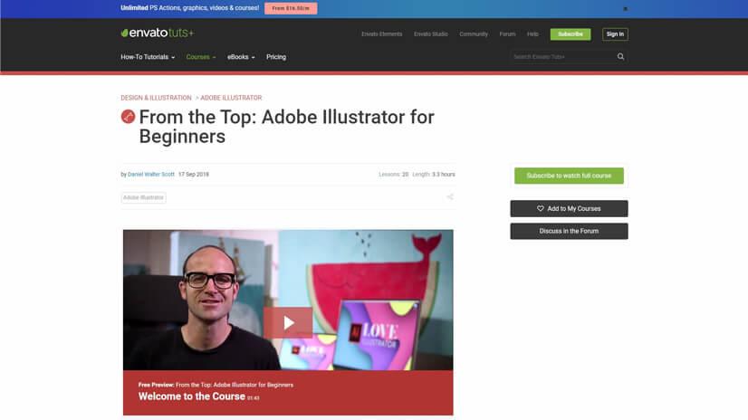 Graphic design coursesonEnvato Tuts+
