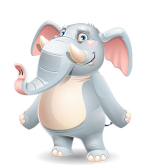 elephant cartoon character