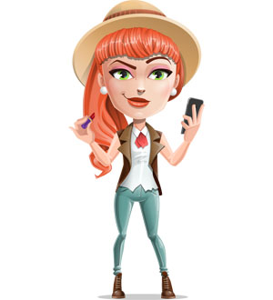girl cartoon character