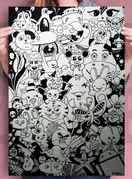 doodling character design