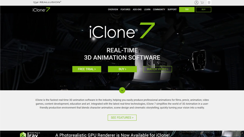 facial animation software: iClone 7