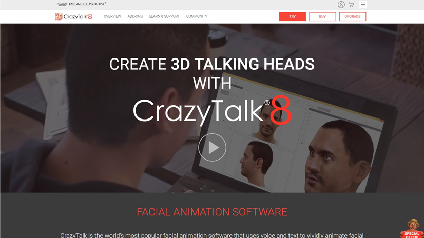 facial animation software: CrazyTalk 8